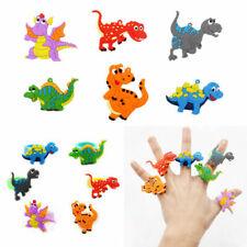 Cute Dinosaur Finger Ring PVC Soft Cartoon Dinosaur Rings Kids Toys Gift 2pcs