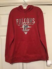 ATLANTA FALCONS Pullover Hoodie Sweatshirt NFL Team Apparel Red Size XL