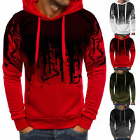 Fashion Mens Camo Sweatshirts Tops Hoodie Casual Hoody Coat Jacket Sweater US