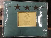4 Piece Bed Sheets Texas Star Embroidery (TURQUOISE) (King) - QUICK SHIPPING!!