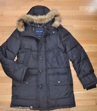 $295 NEW TOMMY HILFIGER Men WINTER WARM COAT JACKET DOWN HOODED FUR L