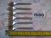 ARTHUR PRICE TAPESTRY CAKE PASTRY FORK SET OF 6 - RARE  VINTAGE RETRO
