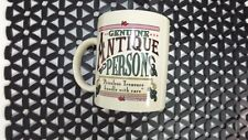 Genuine Antique Person Laid Back Coffee Tea Cup Mug Priceless Treasures w/Care