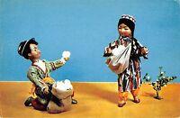 BR57174 white gold dolls in uzbek national costumes folklore