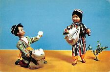 BR57174 white gold dolls in uzbek national costumes folklore