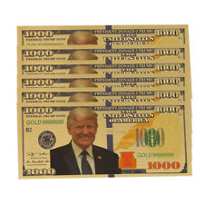 US Donald Trump Gold Plated Commemorative Coin President Banknote Non-currency