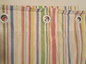 Ralph Lauren Harbor Stripe ~ Fabric Shower Curtain with Grommets