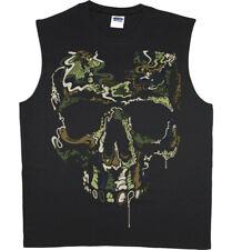 Men's Sleeveless Muscle Tee Shirt Tank Top Special Ops Gamer Gear Camo Skull