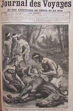 JOURNAL DES VOYAGES N° 599 de 1888 MŒURS de PATAGONIE / MISSION au MAROC SULTAN