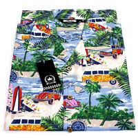 Relco Mens Hawaiian Short Sleeved Shirt 50's Aloha Retro Indie VTG Beach Surf