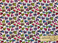 Cat Catitide Swirling Hearts Metallic Cotton  Fabric by the 1/2 Yard #4204MB-09
