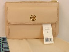 NWT TORY BURCH ROBINSON SAFFIANO SAHARA LEATHER REVA POUCH CLUTCH ZIP WALLET