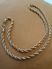 Rope Chain 20 Inches 24K Gold Plated French Braide