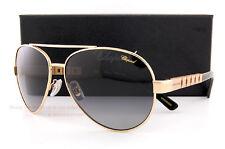 New Chopard Sunglasses SCH B12 300P Gold Black/Gradient Grey For Men