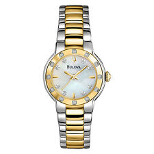 Bulova Women's 98R168 Diamond Bezel and Markers Quartz Two Tone Watch