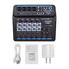 Professional 6 Channels Studio Audio Sound Mixing Console Bluetooth USB US H1E3