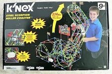 Steel Scorpion K'NEX Roller Coaster MOTORIZED Racing Cars SPEAKER Motor