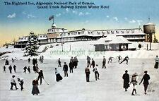 Algonquin Park, Ontario, Highland Inn, Winter Skating, Digital Image