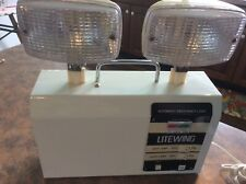 Vintage LITEWING DUAL LAMP AUTOMATIC EMERGENCY LIGHT WITH FUNCTION METER & Fuse