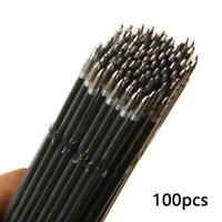 100pcs Ball Point Ink Pen Refills Replacement Black School Office Writing F2B7
