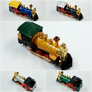 Retro Steam Train Toy Diecast Locomotive Pull Back Model Car Collectables 1:34