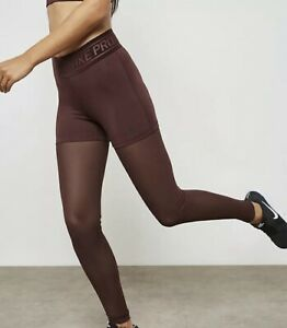 Women's Nike Pro Mesh Tights~Training-Deluxe~Maroon~932153-652~S Small