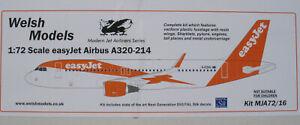 Welsh Models MJA72/16 - Airbus A320-214 - easyJet - 1:72 - Flugzeug Bausatz Kit
