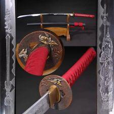 CLAY TEMPERED SAMURAI SWORD FOLDED STEEL JAPANESE KATANA SHARP FULL TANG BLADE