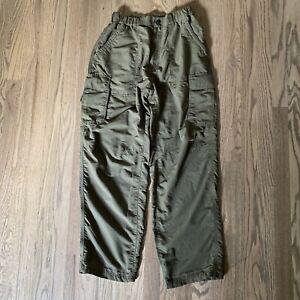 REI mens Cargo Hiking Camping Climbing Pants Olive Green 30x30 Nylon