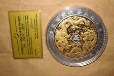 2000 ANDORRA Yr.DRAGON $50 DINERS Proof like Gold & Silver 0.5kg coin with & COA