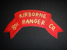 Korea War (1950-53) Us 8th Airborne Ranger Infantry Company Hand Made Patch