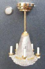 1:12 Maßstab Kronleuchter LED Batterie Deckenleuchte Lampe Tumdee Puppenhaus
