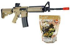 SRC Sport M4 CQB Metal Gear AEG Airsoft Rifle with 4000 .25g Airsoft BBs