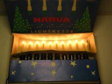 Alte Narva Lichterkette 10tlg DDR Christbaumbeleuchtung Kerzen Weihnachtsbaum 9