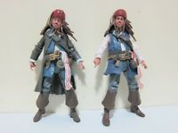 "Set of 2 Pirates of the Caribbean Captain Jack Sparrow 3.75"" Action Figure"