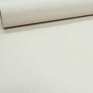 Plain Linen Effect Neutral Ivory Cream Free Match Smooth Finish Wallpaper