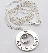 HORSE & WESTERN JEWELLERY JEWELRY LADIES  HORSE RIDING  MESSAGE NECKLACE SILVER