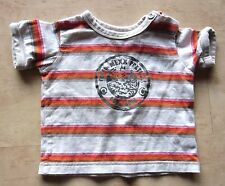 mexx Shirt Gr.68 rot beige weiß gestreift
