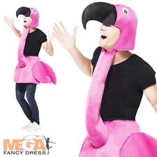 Pink Flamingo Adults Fancy Dress Zoo Animal Book Week Unisex Costume Outfit New