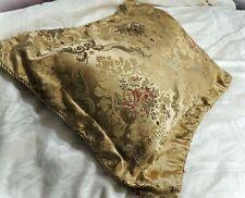Satin Damask Decorative Queen Standard Pillow Sham Gold Pillow Case Irreg Stitch