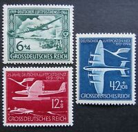 Germany Nazi 1944 Stamps MNH Swastika planes WWII 25th anniv. of German air mail