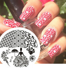 Nail Art Stamping Plate BORN PRETTY Rose Queen Theme Stamp Template Image #25