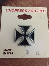 NEW! CHOPPERS FOR LIFE FOREVER BIKE MOTORCYCLE CROSS BLACK ANGEL GUARDIAN PIN