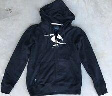 Boy's Ripcurl Sz 12 Hoodie Blk/White Hooded Sweatshirt