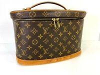Louis Vuitton Monogram Nice Cosmetic Vanity Hand Bag M47280 LV 56911191 Sticky