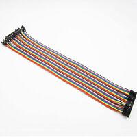 40pcs Shield 30cm 2.54mm 1P-1P Female to Female Dupont cables Arduino