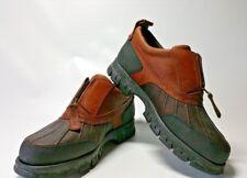Polo Sport Ralph Lauren Brown Leather Zip Up Duck Hiking Shoes Women's 7