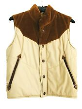 Levi's Vintage Women's Brown and Tan Corduroy Vest Small