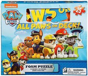Gift Item Paw Patrol Foam Floor Puzzle by Cardinal (25 Piece), Multicolor