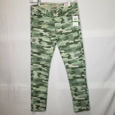 Camouflage Denim Jeggings Lucky Brand Green Youth Girl's Large 12-14 NEW